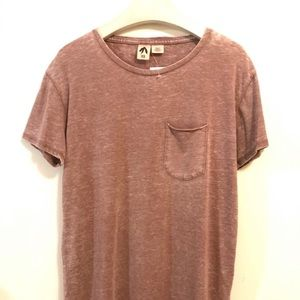 Urban Outfitters Feathers T-Shirt XS Brown Burnout